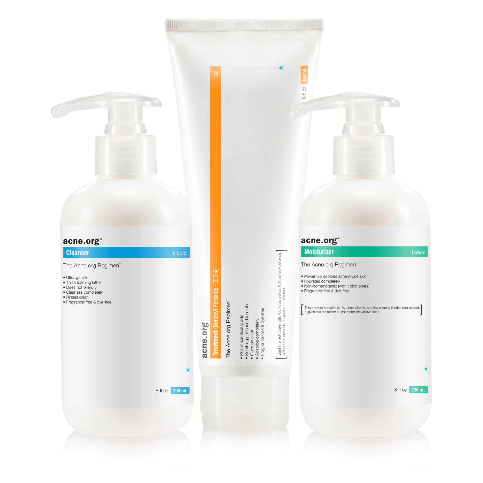 Acne Org Regimen Kit Cleanser Treatment And Moisturizer